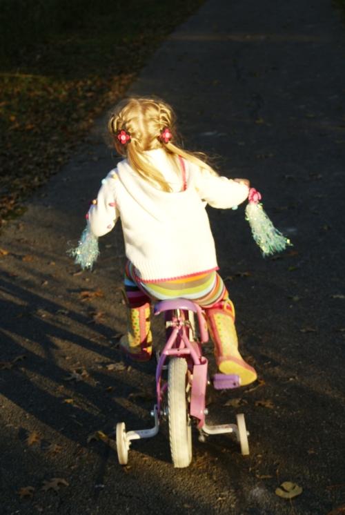 Jess on bike